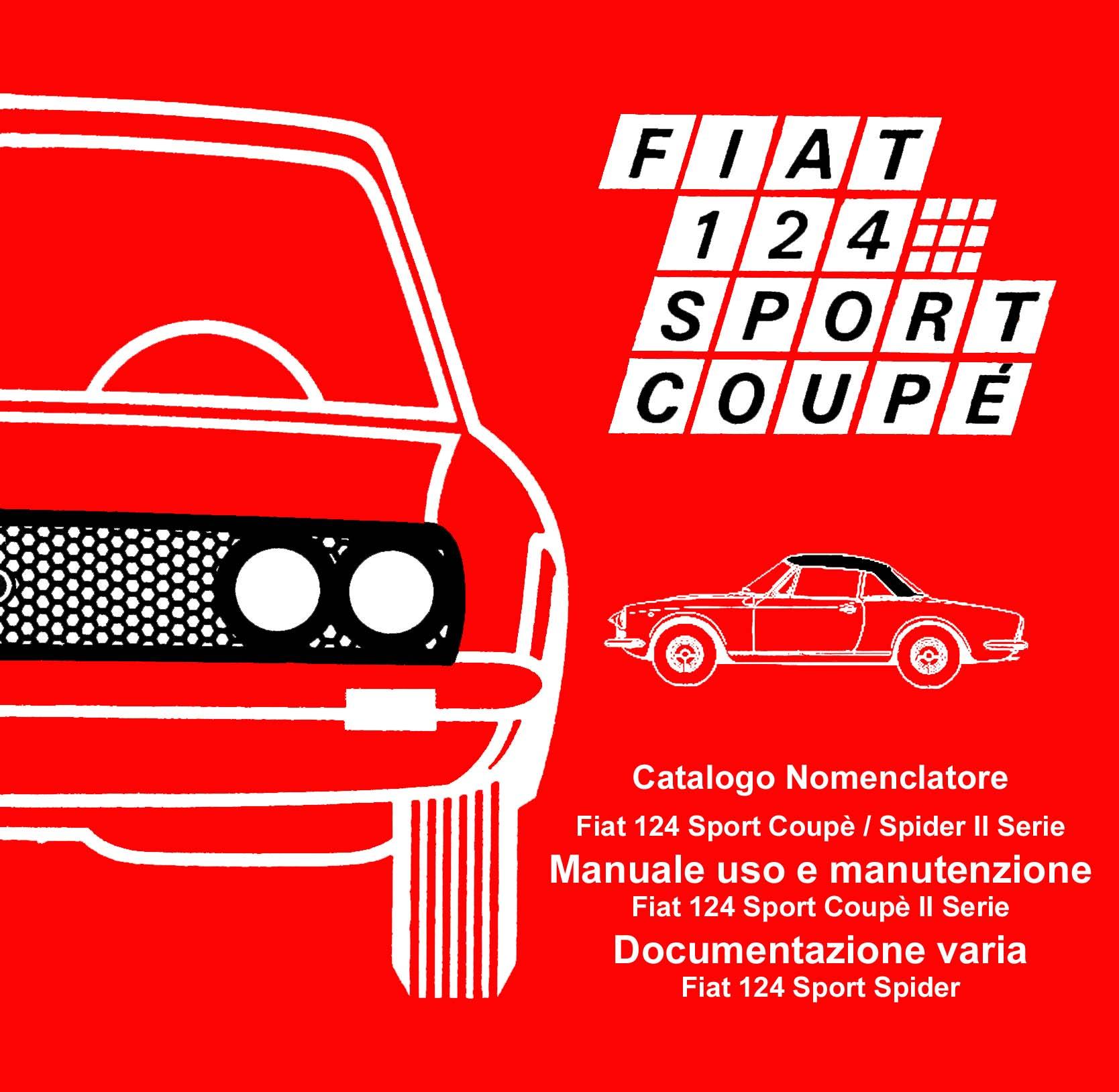 coupè prima serie Uso e manutenzione FIAT 124 Sport Coupé